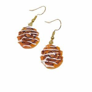 Kawaii Cute Cinnamon Roll Drop Earrings
